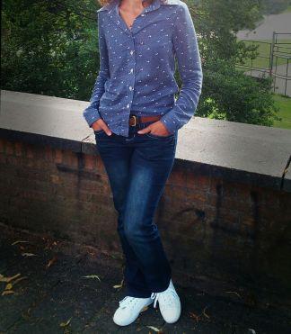 Camisa com calça jeans
